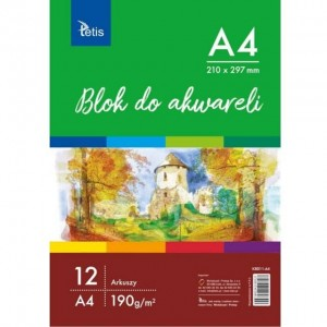 Blok do akwareli A4 Tetis